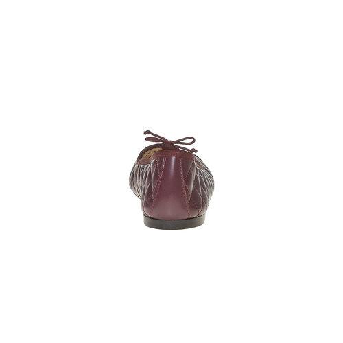 Ballerine in pelle con cuciture bata, rosso, 524-5431 - 17