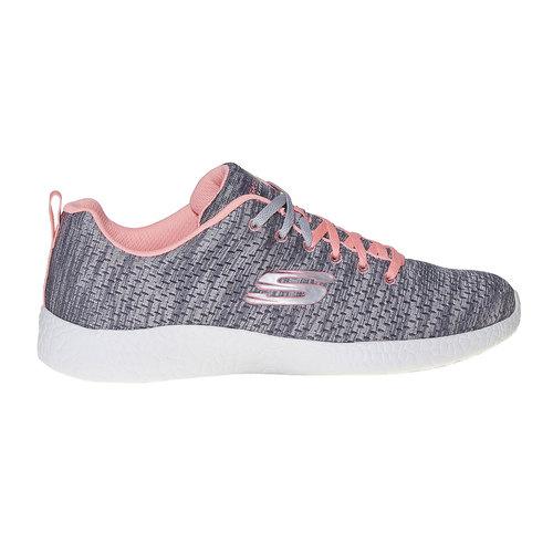 Sneakers da donna con motivo skechers, grigio, 509-2354 - 15
