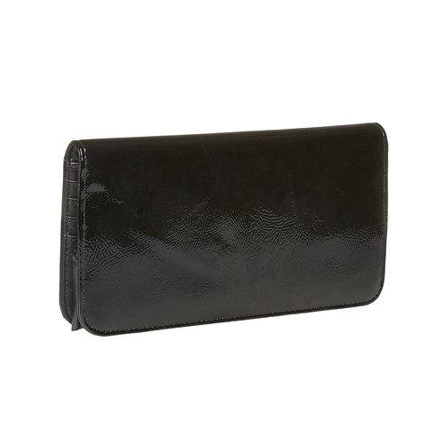 Portafoglio verniciato da donna bata, nero, 941-6144 - 13