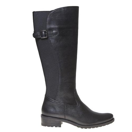 Stivali di pelle con parte flessibile bata, nero, 594-6300 - 15