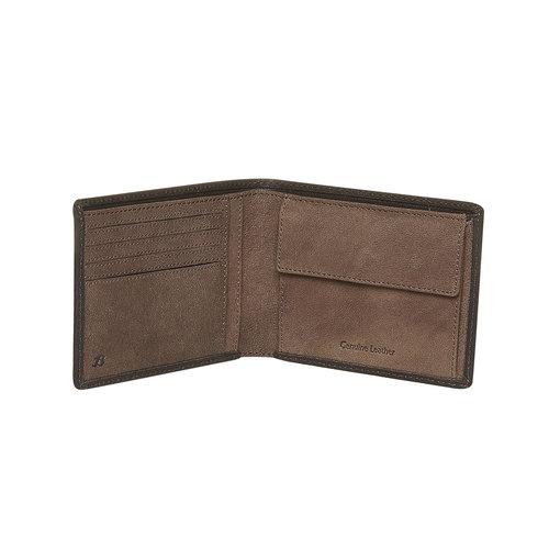 Portafoglio in pelle da uomo bata, marrone, 944-4162 - 17