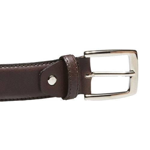 Cintura da uomo in pelle bata, marrone, 954-4170 - 26