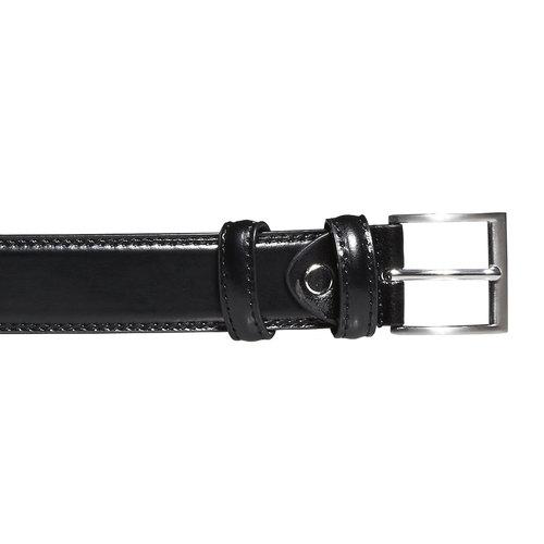Cintura da uomo in pelle bata, nero, 954-6121 - 26