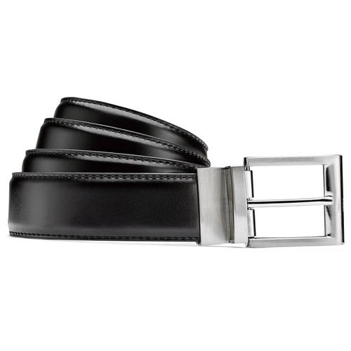 Cintura reversibile nera e marrone bata, nero, 954-6122 - 13