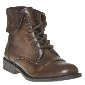 Scarpe da donna alla caviglia in pelle bata, marrone, 594-4450 - 13