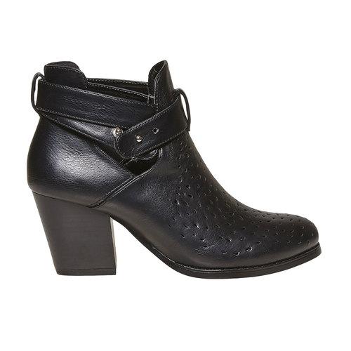 Stivaletti alla caviglia con perforazioni bata, nero, 791-6627 - 15