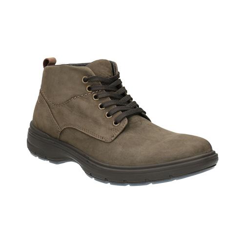 Scarpe di pelle alla caviglia bata, marrone, 896-4226 - 13