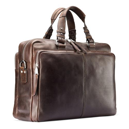 Borsa da ufficio in vera pelle bata, marrone, 964-4106 - 13