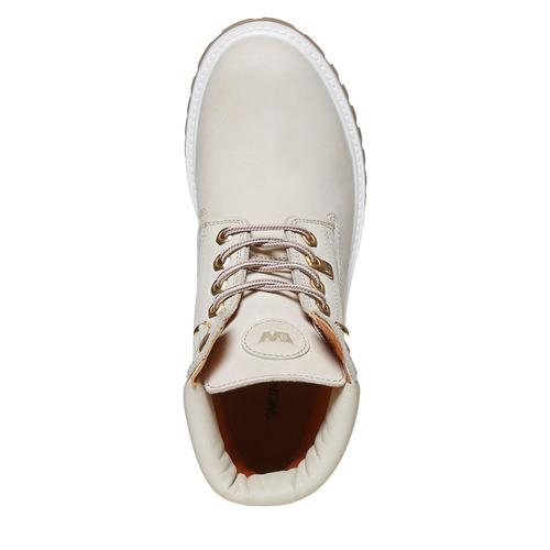 Scarpe in pelle con suola a carro armato weinbrenner, bianco, 596-1546 - 19