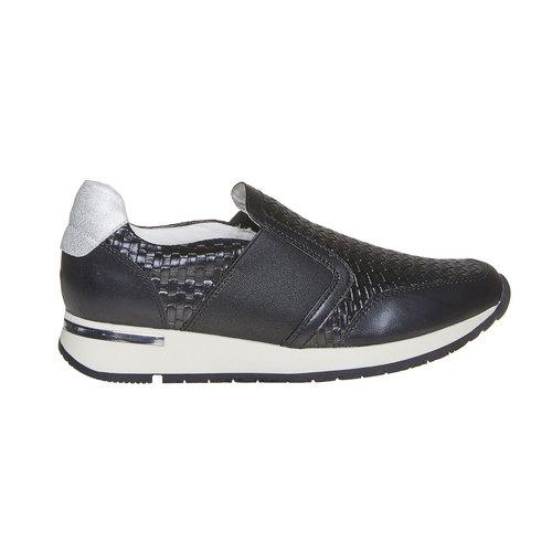 Sneakers da donna con struttura north-star, nero, 531-6121 - 15
