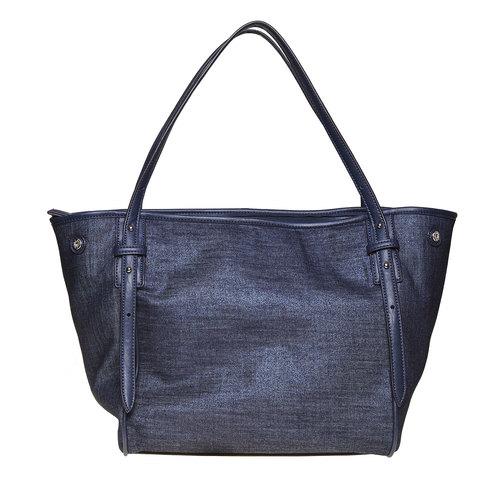 Borsa da donna con borchie bata, blu, 969-9264 - 26