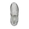 Sneakers argentate da bambina con cerniere, grigio, 321-2255 - 19