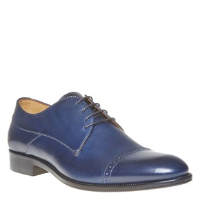 Scarpe basse di pelle in stile Derby bata-the-shoemaker, blu, 824-9296 - 13