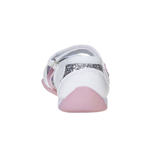 Scarpe da ragazza con glitter mini-b, bianco, 221-1186 - 17