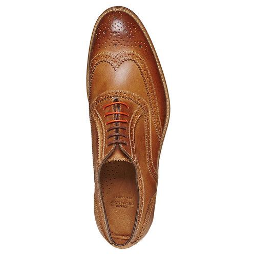Scarpe basse marroni in stile Oxford bata-the-shoemaker, marrone, 824-8776 - 19