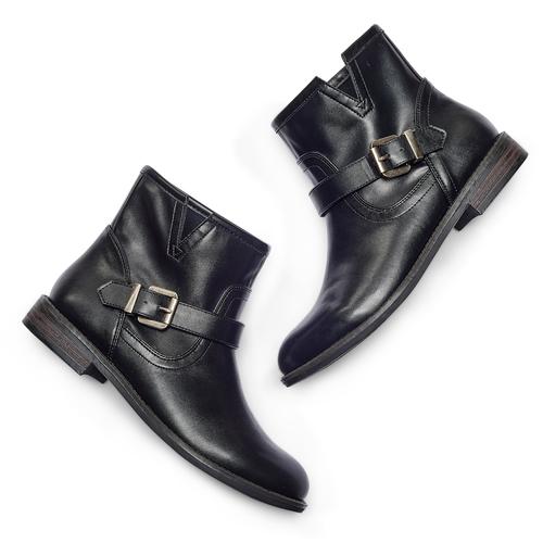 Scarpe da donna in stile motociclista bata, nero, 591-6368 - 26