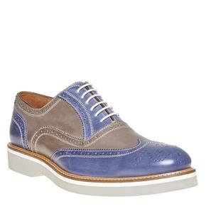 Scarpe basse di pelle con suola appariscente bata-the-shoemaker, blu, verde, 824-9776 - 13