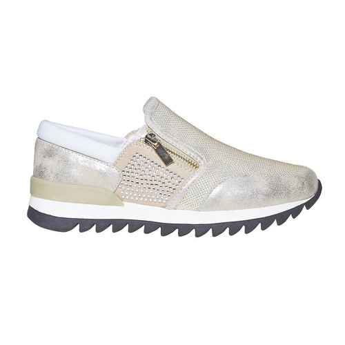 Sneakers da donna con suola appariscente north-star, oro, 539-8127 - 15