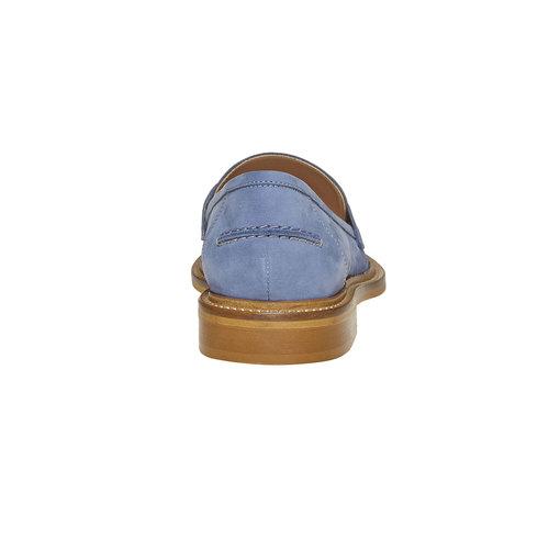 Mocassini in pelle da donna bata, blu, 516-9259 - 17