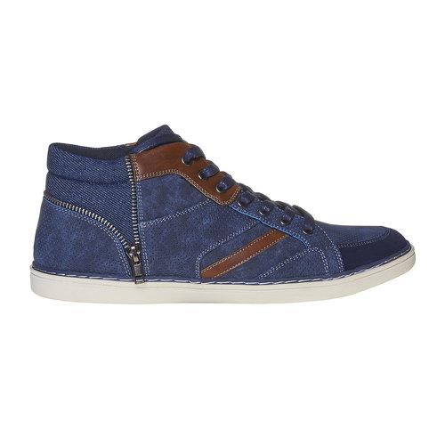 Sneakers da uomo sopra la caviglia bata, blu, 841-9342 - 15