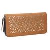 Portafoglio marrone con perforazioni bata, marrone, 941-3154 - 13