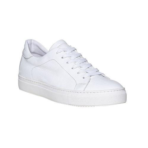 Sneakers da uomo in pelle bata, bianco, 844-1687 - 13