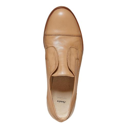 Scarpe basse in pelle senza lacci bata, marrone, 514-3267 - 19