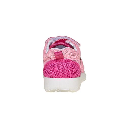 Sneakers rosa da bambina, rosso, 229-5192 - 17