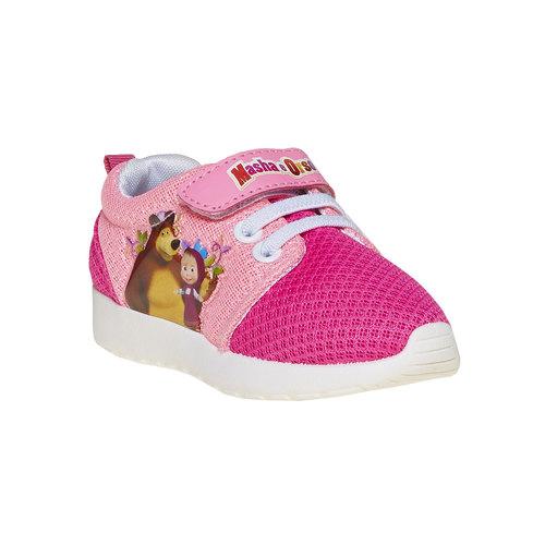 Sneakers rosa da bambina, rosso, 229-5192 - 13