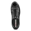 Stringate in vera pelle bata, nero, 844-6381 - 17