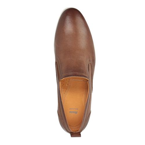 Slip-on in da uomo in pelle bata, marrone, 814-4148 - 19