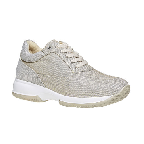 Sneakers dorate da donna bata, beige, 549-8255 - 13