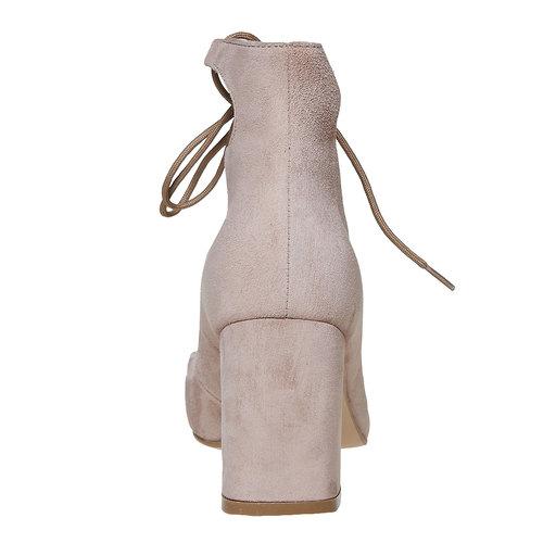 Sandali con tacco massiccio, beige, 723-8373 - 17