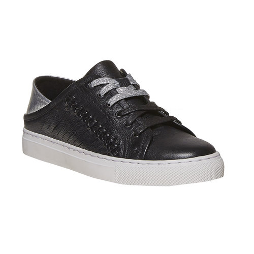 Sneakers da donna di pelle north-star, nero, 544-6210 - 13