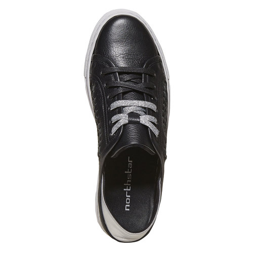 Sneakers da donna di pelle north-star, nero, 544-6210 - 19