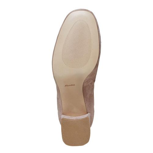 Sandali con tacco massiccio, beige, 723-8373 - 26