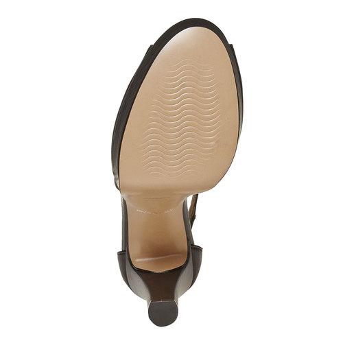Sandali in pelle da donna bata, nero, 724-6708 - 26