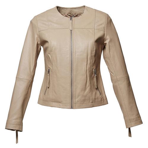 Giacca elegante di pelle bata, beige, 974-2312 - 13