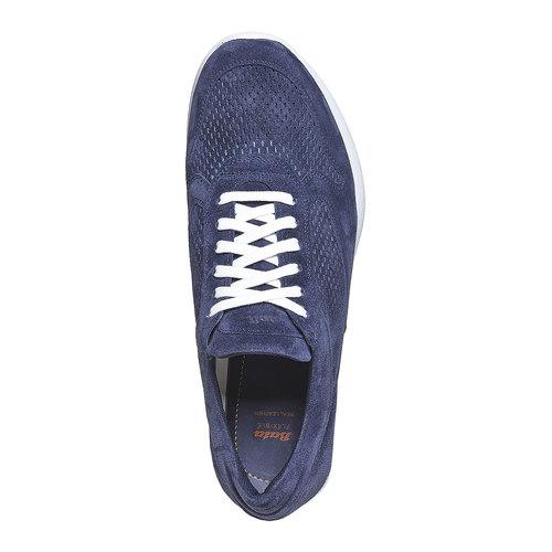 Sneakers in pelle da uomo flexible, blu, 843-9703 - 19