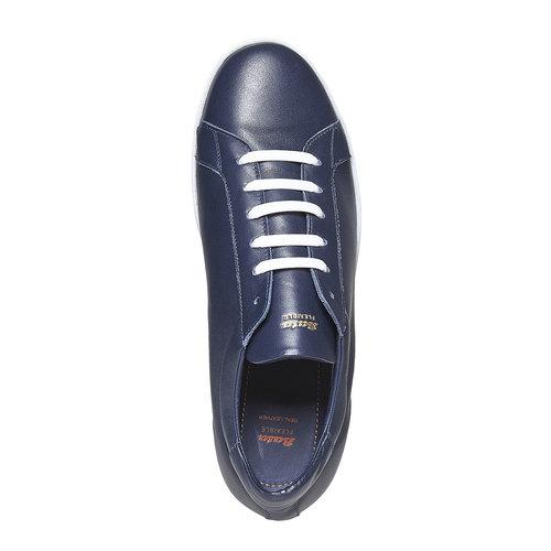 Sneakers da uomo in pelle flexible, blu, 844-9705 - 19