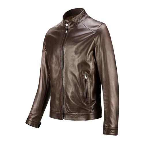 Giacca da uomo in pelle bata, marrone, 974-4154 - 16