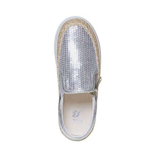 Slip-on argentate da ragazza mini-b, grigio, 329-2247 - 19