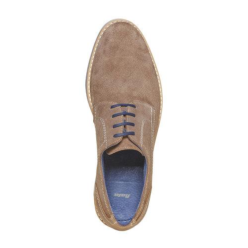 Scarpe basse in pelle con suola appariscente bata, marrone, 823-2258 - 19