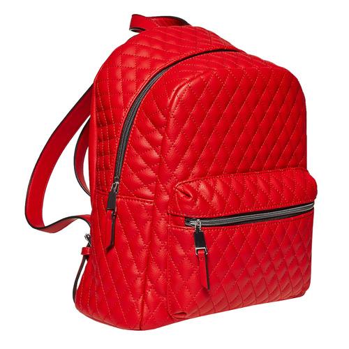 Zaino rosso con cuciture bata, rosso, 961-5923 - 13