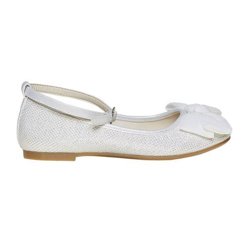 Ballerine chiare con fiocco mini-b, bianco, 329-1241 - 15
