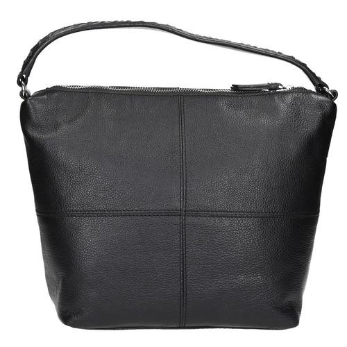 Borsa di pelle in stile Hobo bata, nero, 964-6121 - 19