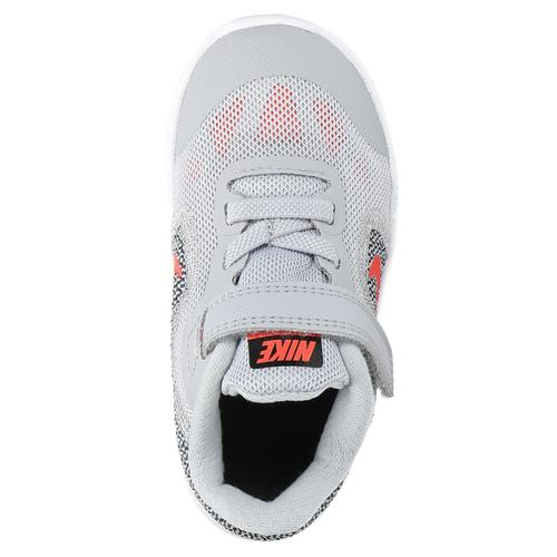 Sneakers da bambino con chiusura a velcro nike, grigio, 109-2149 - 19