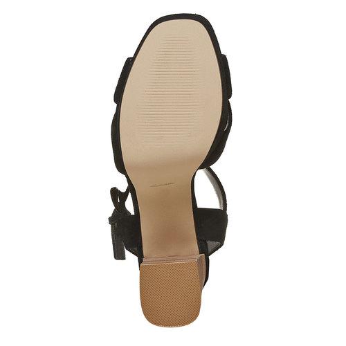 Sandali con tacco e plateau insolia, nero, 763-6502 - 26