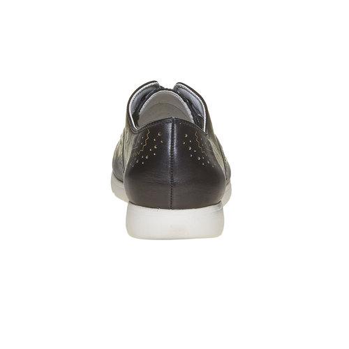 Scarpe basse da donna in pelle bata, nero, 524-6567 - 17