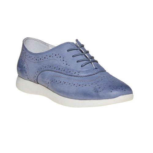 Scarpe basse blu in pelle bata, blu, 526-9567 - 13
